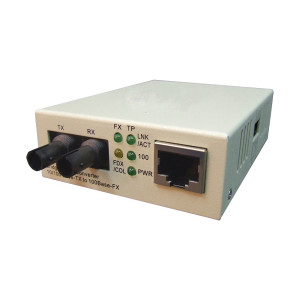10/100Base-TX to 100Base-FX ST-type Fiber Converter